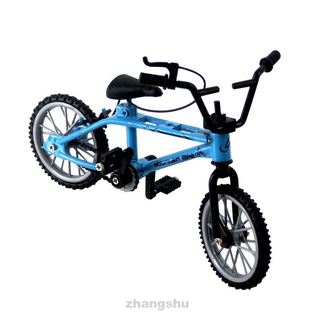 Gift Home Decoration Children Simulation Finger Retro Kids Toy 1:18 Mini Alloy Bicycle Model