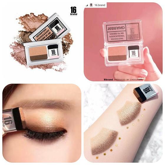Combo Phấn mắt 16 brand