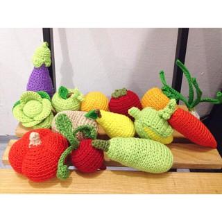 Bộ củ quả đồ chơi cho bé handmade