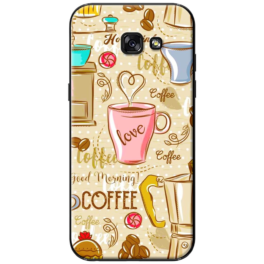 Ốp lưng Samsung A3/A5/A7 (2017) - nhựa dẻo Love Coffee