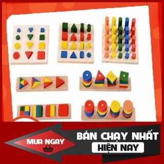 -HCM- Bộ đồ chơi giáo cụ Montessori 8 món, cực HOT