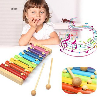 ♞Kids Baby Toys 8 Notes Musical Xylophone Piano Multicolor Wooden Instrument Toy