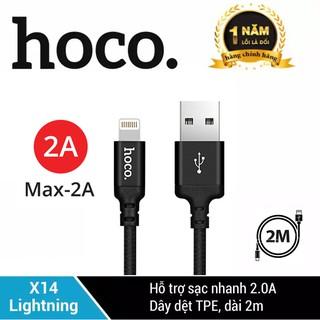 Hình ảnh Cáp sạc Lightning Hoco X14 sạc nhanh 2.0A cho iPhone/iPad-0