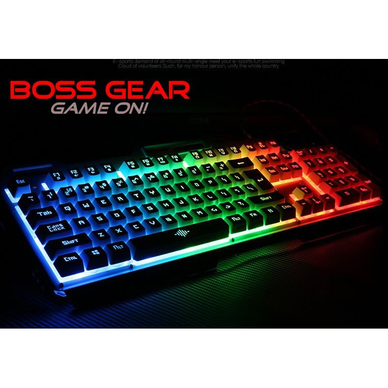 Bàn Phím Giả Cơ Chuyên Game V10 Có LED Đủ Màu Viền Kim Loại Phổ Biến Phòng Net Gamer Chuyên LOL/PUBG -DC3329