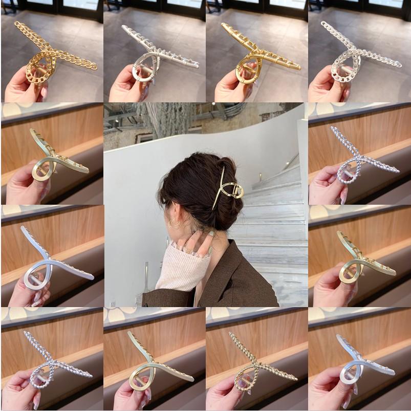 Kẹp Tóc Kim Loại Thời Trang Nhiều Kiểu Dáng Phong Cách Hàn Quốc Cho Nữ