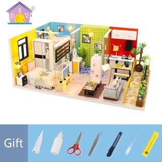 Nhà Búp Bê Gỗ DIY – Simple Life M-043 ( Tặng bộ dụng cụ 5 món , keo + mica)