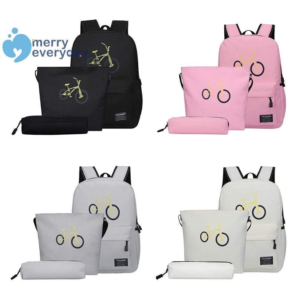 ❉mer❉3pcs/set Women Backpack Teenager Girl Student Book Bag Travel Shoulder Bags