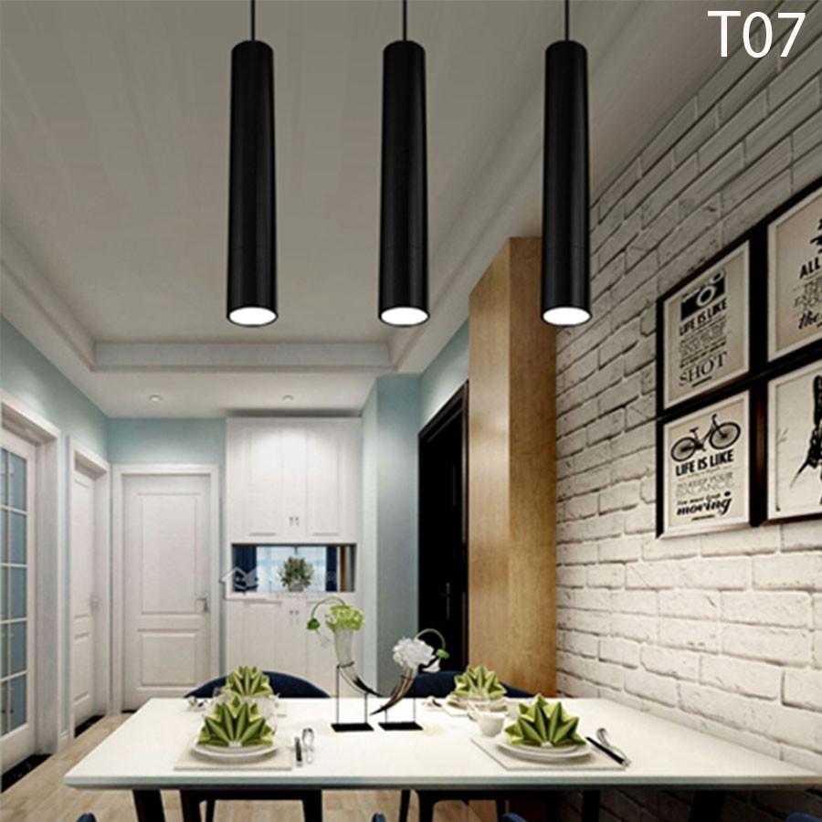 Đèn thả trần rọi ống bơ COB 15w Đen/ Trắng-T10, Bảo hành 1 năm
