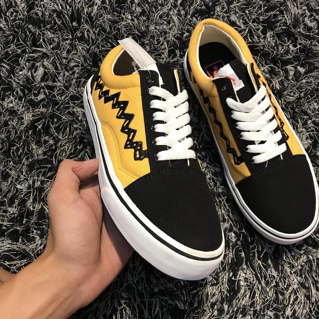 [Bản Đặc Biệt] Giày Thể Thao Vans Peanuts Đen Vàng Nam Nữ
