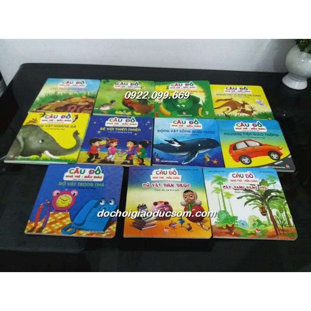 CÂU ĐỐ nhà trẻ mẫu giáo - Bìa cứng - Cho bé từ 2-6 tuổi- combo 11 cuốn