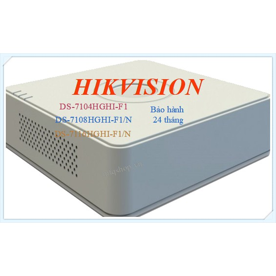 Đầu ghi 4 kênh Hikvision bảo hành 24 tháng