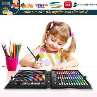 【150PC】Bút màu dành cho trẻ em, học sinh, nghệ sĩ, bộ đồ nghệ thuật cọ vẽ bút màu, bút chì màu, bút màu nước