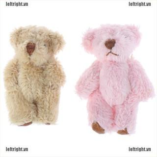 LEFT 4.5CM Cute Bear Doll Long hair Bear DIY Clothes Or Mobile Handmade Accessories VN
