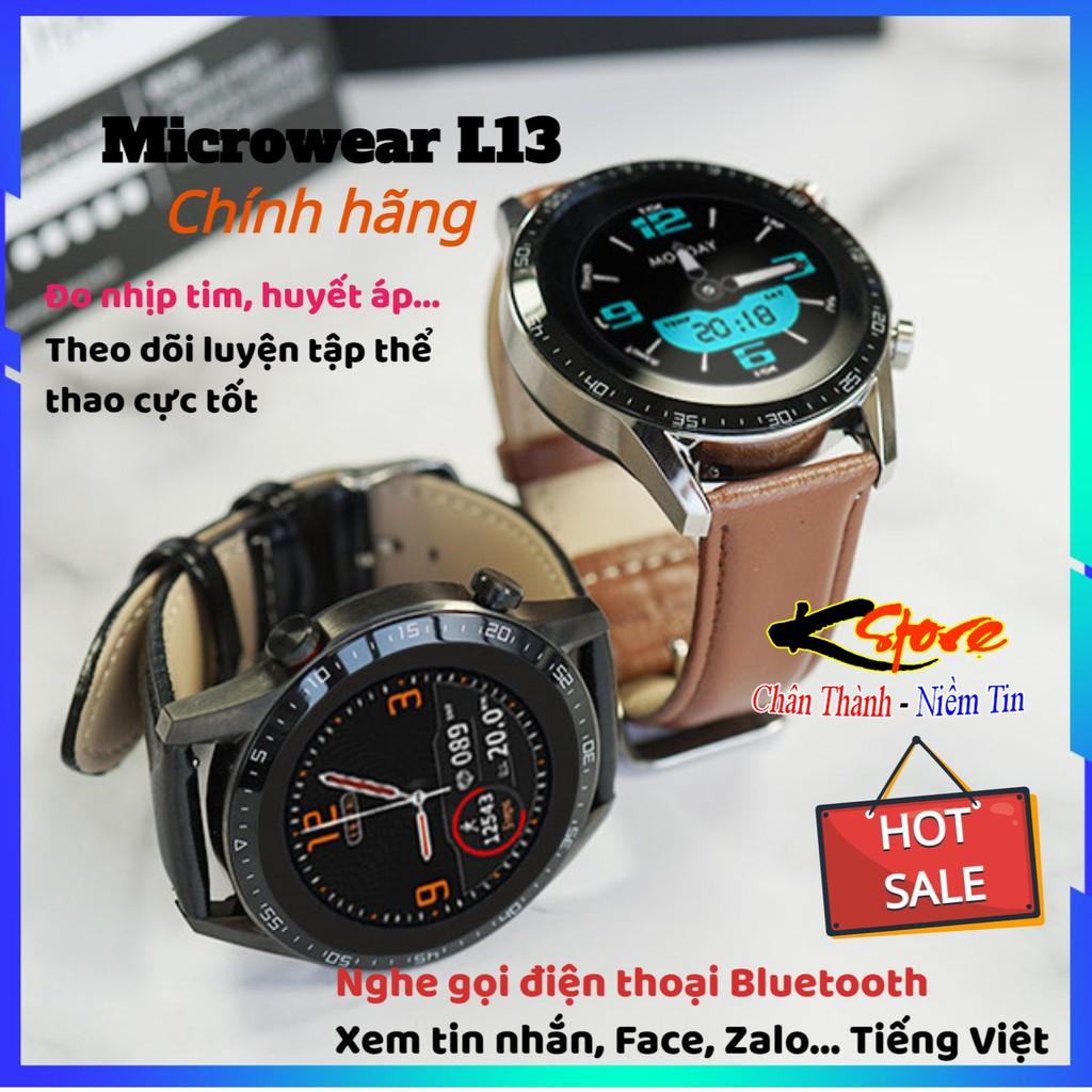 Microwear L13 - Đồng hồ thông minh Microwear L13 Smartwatch Nghe gọi Bluetooth, Tiếng Việt, Theo dõi sức khỏe cực tốt