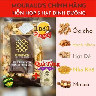 Hỗn Hợp Mixed 5 Hạt dinh dưỡng Hạnh nhân Macca Óc chó Nho khô Hạt dẻ cười úc Mourad s Granola Cao Cấp Diamond Nuts thumbnail