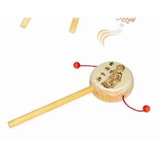 Trống lắc gỗ – Lục lạc lắc gỗ – Đồ chơi gỗ an toàn cho bé TE-TG01