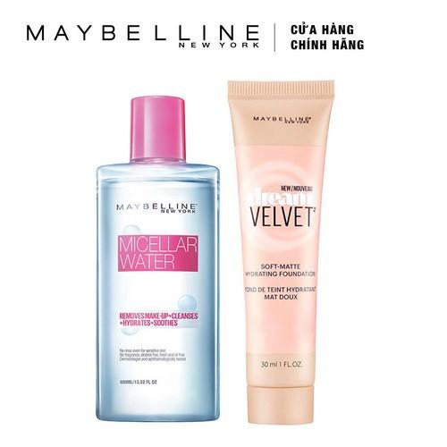 Bộ Kem nền Maybelline Dream Velvet 20 30ml & Nước tẩy trang đa công dụng 400ml _ TUML00020CB