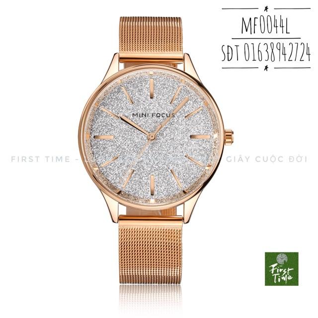 Đồng hồ nữ dây thép lụa mặt lấp lánh MINI FOCUS MF0044L