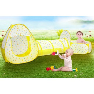 【Hot Sale】 Kids Indoor Tent Marine Ball Pool Crawling Tunnel Three-Piece Suit