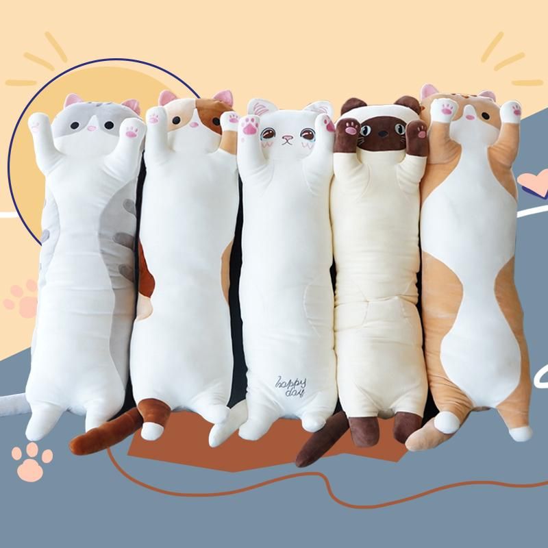 gối ôm thú nhồi bông hình mèo đáng yêu