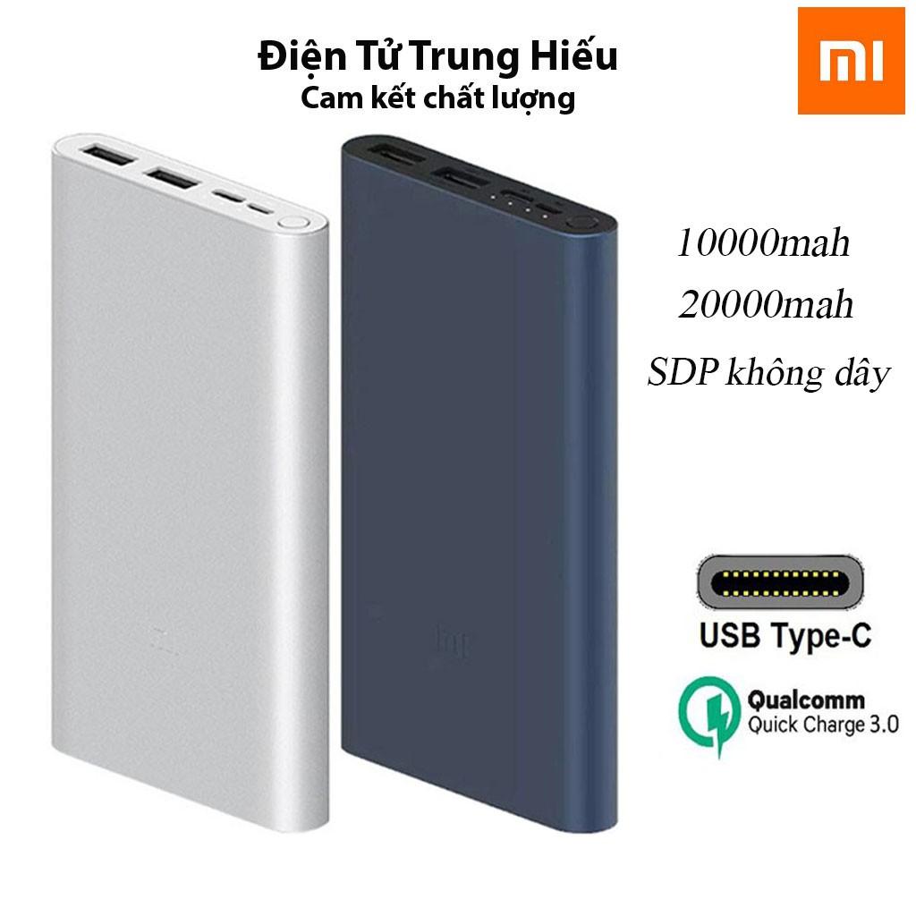 Pin dự phòng Xiaomi Gen 3 18W dung lượng pin 10000/20000mAh hỗ trợ sạc nhanh - Chính Hãng - Bh 12 Tháng