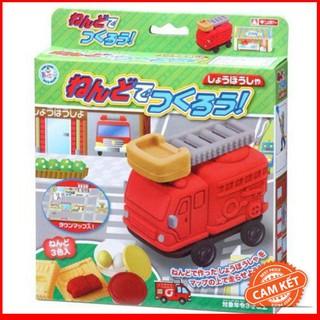 """[HÀNG THẬT] Bộ đất nặn bằng bột gạo """"Mô hình xe cứu hỏa GINCHO"""" hàng Nhật"""