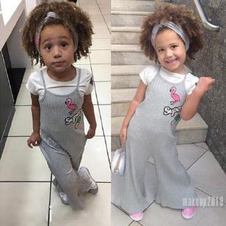 Mu♫-2Pcs Kid Infant Baby Girl Top T-shirt+Bell Pants Outfit Jumpsuit Clothes Hot Sale