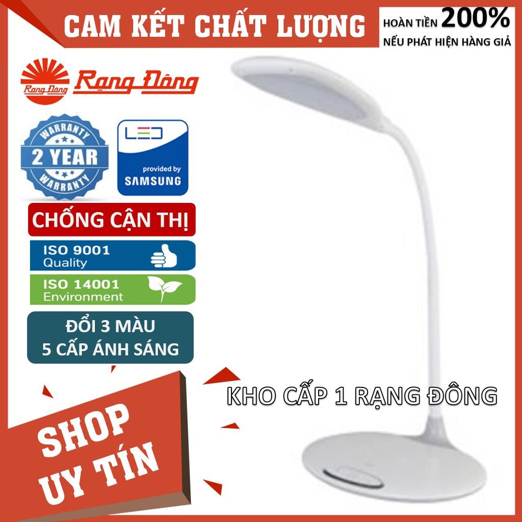 [CHÍNH HÃNG] Đèn bàn (đèn học) LED Rạng Đông 6W cảm ứng, đổi 3 màu / 5 mức ánh sáng bảo vệ thị lực