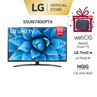 [Mã 66ELHASALE hoàn 7% xu đơn 500K]Smart Tivi LG 55 Inch UHD 4K 55UN7400PTA - Model 2020 - Miễn phí lắp đặt thumbnail