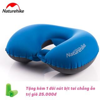 [Mã FAMALLT5 giảm 15% đơn từ 30k] Gối hơi chữ U du lịch Naturehike tặng kèm 1 đôi nút bịt tai Mack s thumbnail