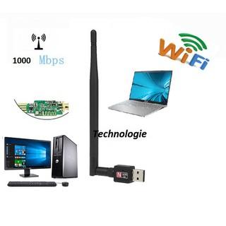 [Mã ELDEC10K giảm 10K đơn 20K] thu wifi 802 Có cần dài 5DP Tốc độ thu sóng cao 1000mps
