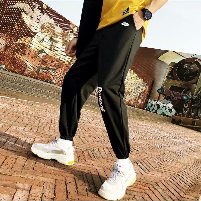 Quần jogger nỉ bông màu đen Perfect phong cách Ullzang thời trang học đường
