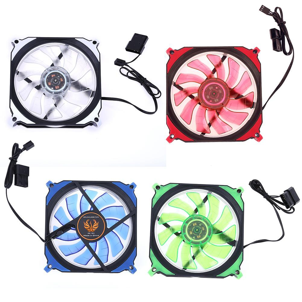[OTICLE] 12cm 120mm 3Pin 4Pin PC Computer LED Cooling Brushless Fan