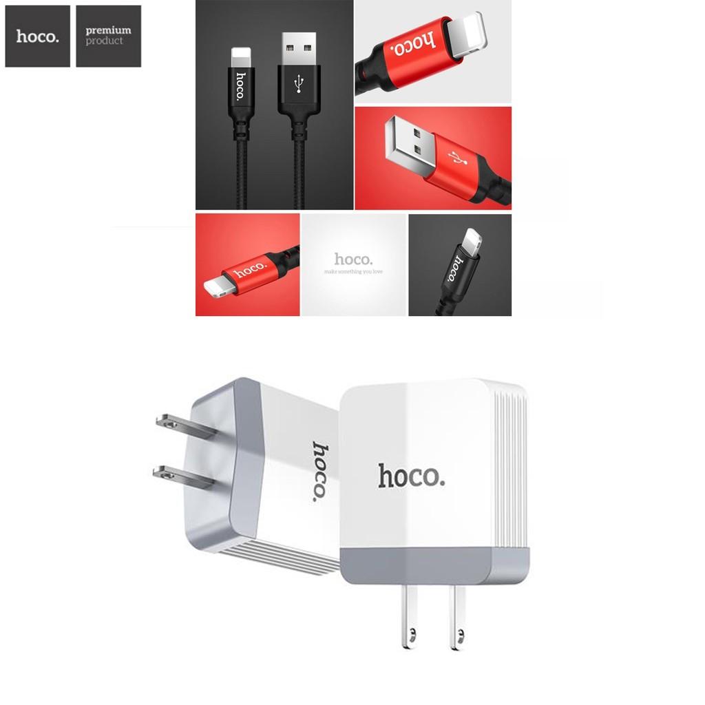 GIẢM CỦ SẠC NHANH HOCO C13B + Cáp Hoco X14 ✓Sạc iPhone iPad Chất Lượng Cao ✓ Chính Hãng ✓