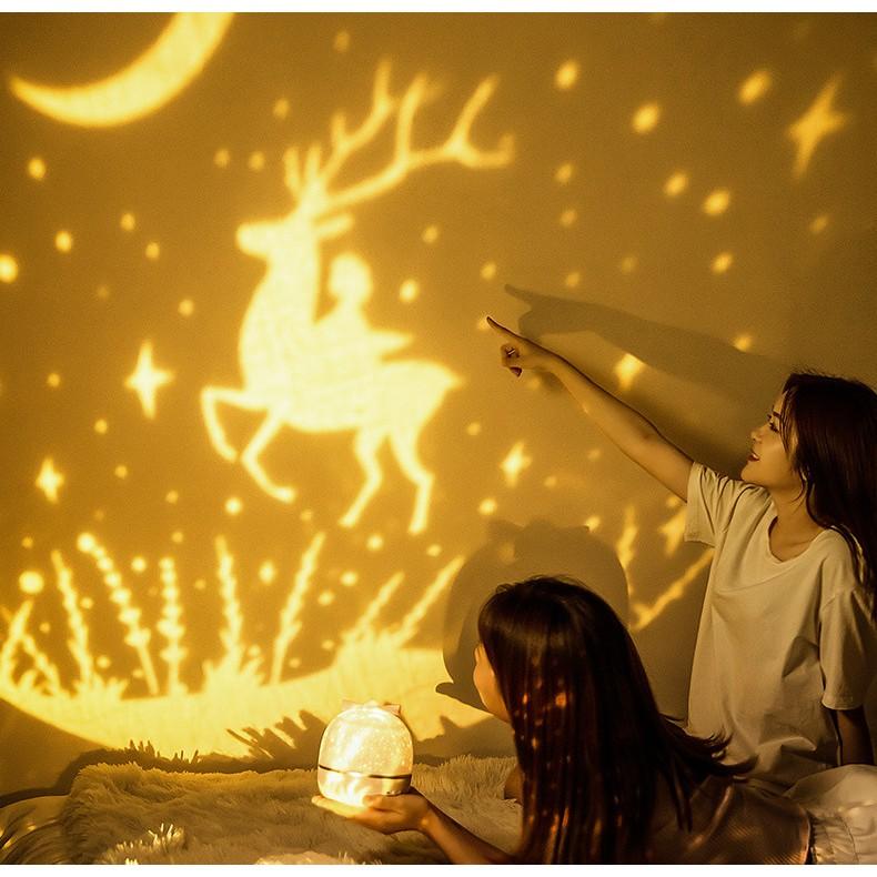 Đèn ngủ vũ trụ ngàn sao tự xoay thông minh , Đèn phòng ngủ vũ trụ thiên hà dành cho bé