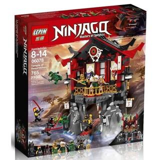 Bộ lego ninja Ngôi đền hồi sinh (857 chi tiết)