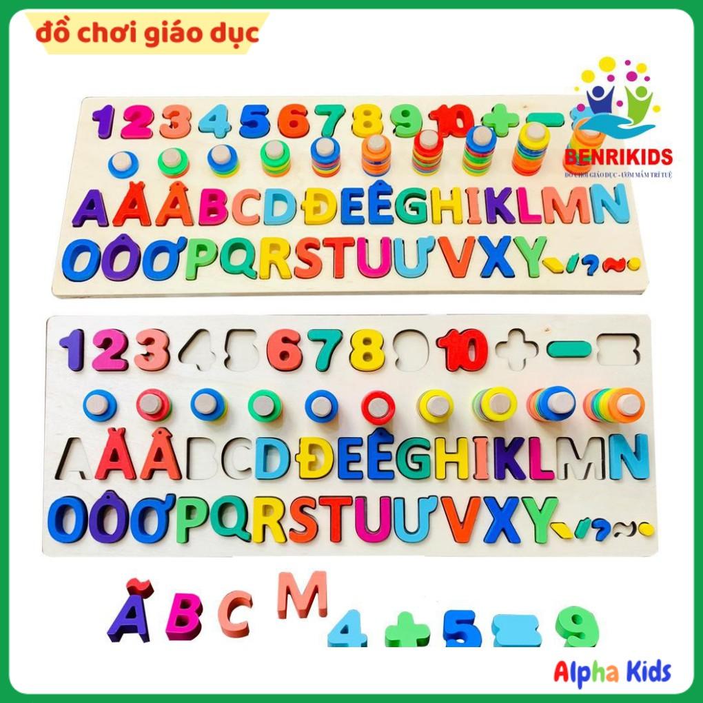 Bảng Chữ Cái Tiếng Việt Có Dấu Kèm Số Và Cột Tính Đồ Chơi Giáo Dục Montessori
