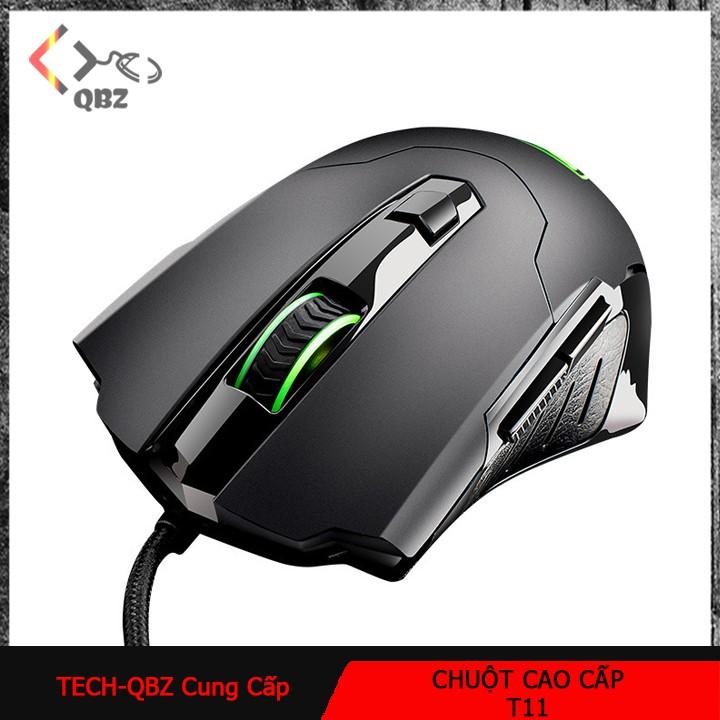 Chuột gaming phát quang T11 có dây chuyên dụng dành cho game thủ, chơi game mượt mà, bền bỉ. Giá chỉ 351.000₫