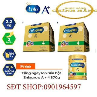 [HÀNG CHÍNH HÃNG 100%] Combo 2 Hộp Sữa Enfa A 4 2.2kg hộp giấy Date 10 .21 TẶNG LON SỮA 870G