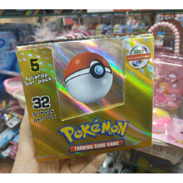 Hộp 32 túi thẻ bài Pokemon VIP 2020