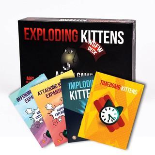 Bộ mèo Mèo Nổ cơ bản Exploding Kittens phổ biến mèo đen và 4 bản mở rộng