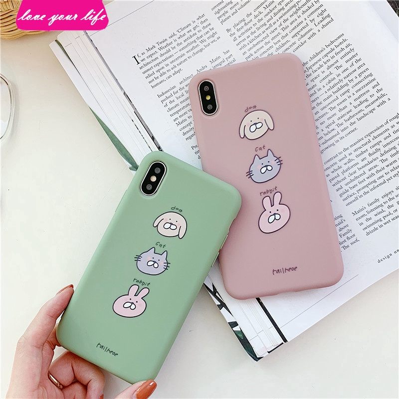 Puppy Kitty Bunny for IPhoneXs Max XR I8 I7 6s Plus Phone Case