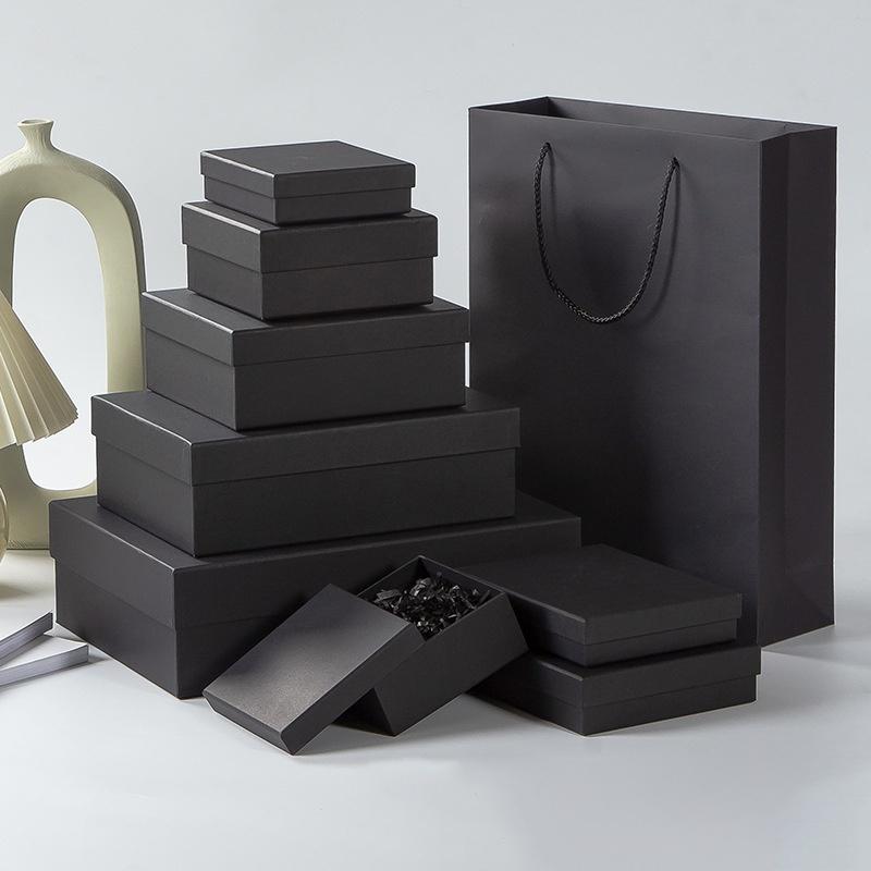 Hộp quà tặng hộp quà sinh nhật màu đen size vừa