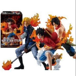 Mô hình 3 anh em nhà Luffy – Mũ Rơm.Ace.Sabo