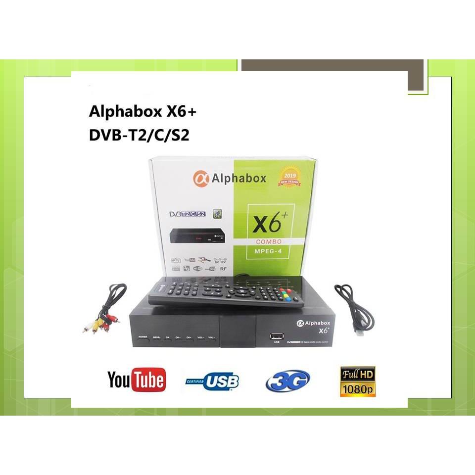 Vỏ Bọc Bảo Vệ Cho The Alphabox X6 + Combo Dvb-s2 / T2 / C 2019