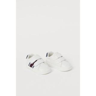 Giày trắng trainers kẻ chéo đen HM UK sz từ 18/19 đến 25