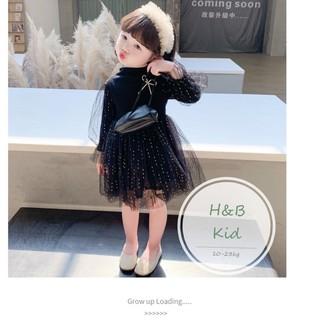 ☘️ Váy Cho Bé 🌈 Váy Thu Đông Tay Bồng Phối Ren Cho Bé 1-6 Tuổi ❤️