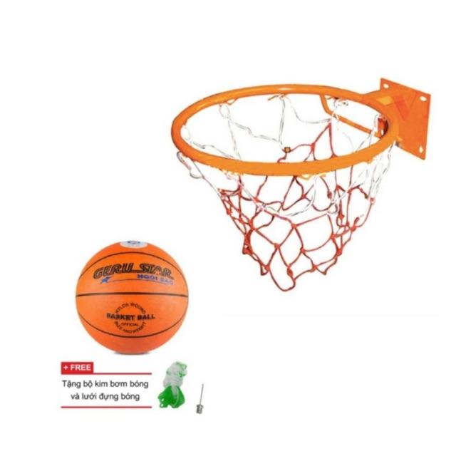Combo khung bóng rổ đại 40cm + lưới + bóng rổ số 5