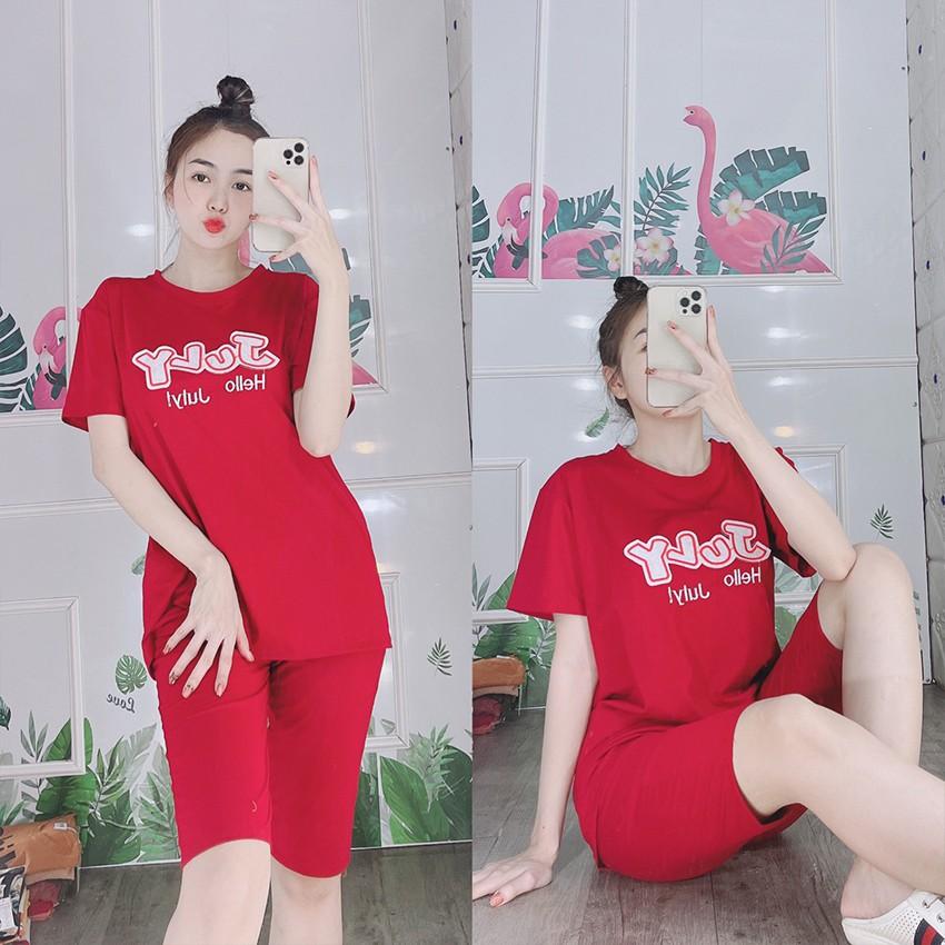 [Có size đến 85KG]Đồ bộ mặc nhà nữ đẹp quần lửng tay ngắn - Chất liệu thun co giãn 4 chiều thoáng mát - Anquachi