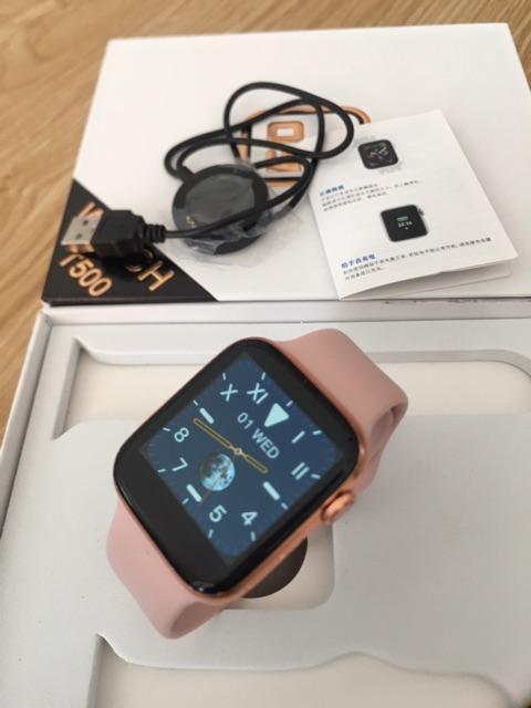 Đồng Hồ Thông Minh T500 Seri 5 Thay Dây Được. Kết Nối Bluetooth , Size 44mm, Chống Nước IP67